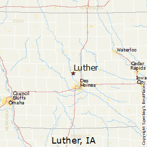 Luther,Iowa Map