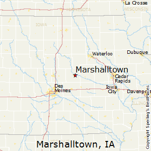 Marshalltown,Iowa Map