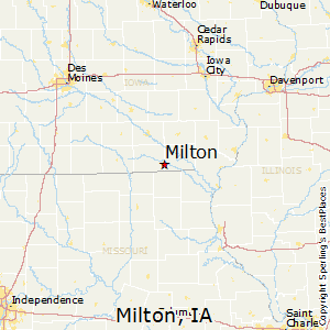 Milton,Iowa Map