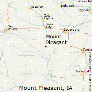 Mount_Pleasant,Iowa Map