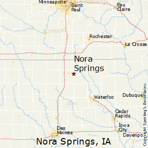 Nora_Springs,Iowa Map