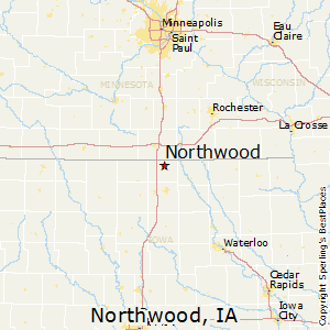 Northwood,Iowa Map