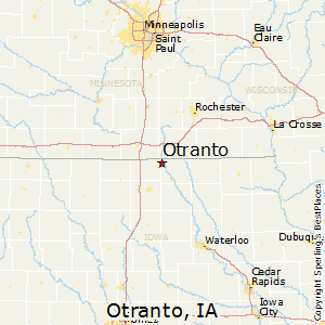 Otranto,Iowa Map
