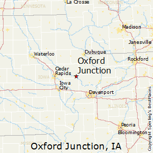 Oxford_Junction,Iowa Map