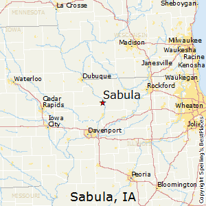 Sabula,Iowa Map