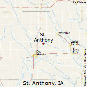 St_Anthony,Iowa Map