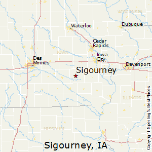 Sigourney,Iowa Map