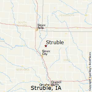 Struble,Iowa Map