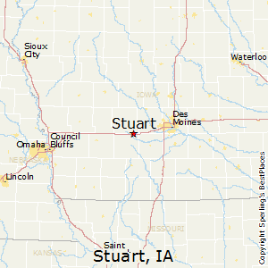 Stuart,Iowa Map