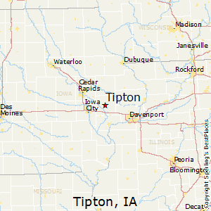 Tipton,Iowa Map