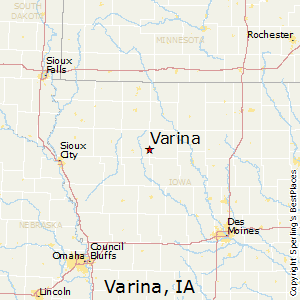 Varina,Iowa Map