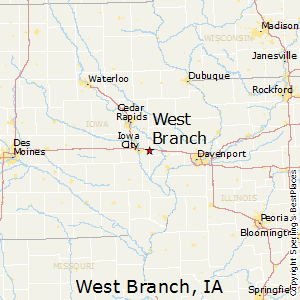 West Branch Iowa Map.Best Places To Live In West Branch Iowa