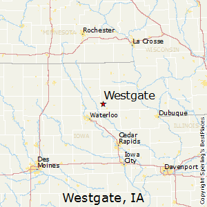 Westgate,Iowa Map