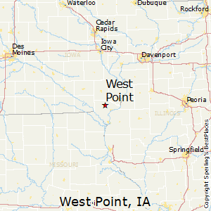 West_Point,Iowa Map