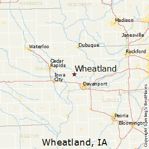 Wheatland,Iowa Map
