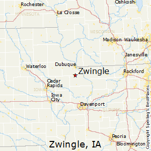 Zwingle,Iowa Map