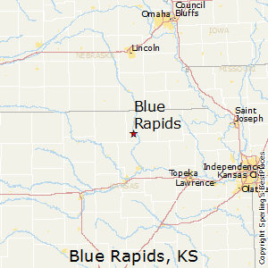 Blue_Rapids,Kansas Map