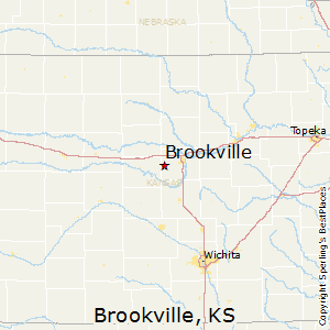 Brookville,Kansas Map