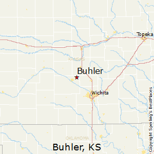 Buhler,Kansas Map