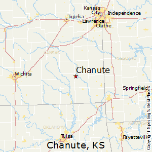Chanute Kansas Map.Best Places To Live In Chanute Kansas