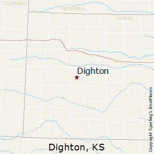 Dighton,Kansas Map