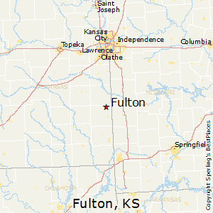 Fulton,Kansas Map