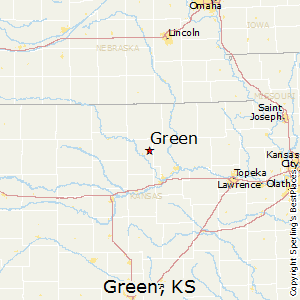 Green,Kansas Map