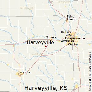 Harveyville,Kansas Map