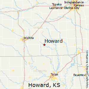Howard,Kansas Map