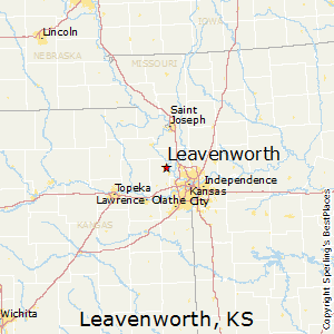 Leavenworth,Kansas Map
