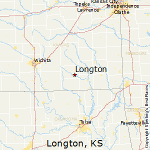 Longton,Kansas Map