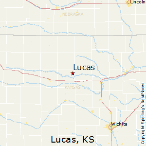 Lucas,Kansas Map
