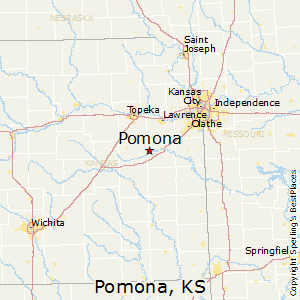 Pomona,Kansas Map