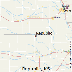Republic,Kansas Map