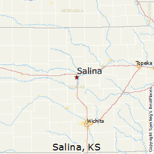 Salina,Kansas Map