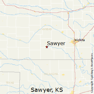 Sawyer,Kansas Map