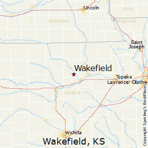 Wakefield,Kansas Map