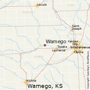 Wamego,Kansas Map