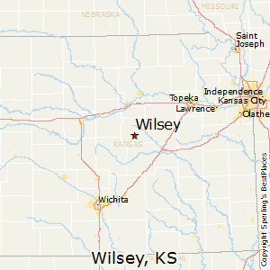 Wilsey,Kansas Map