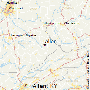 Allen,Kentucky Map