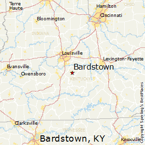 Bardstown,Kentucky Map