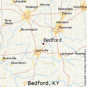 Bedford,Kentucky Map