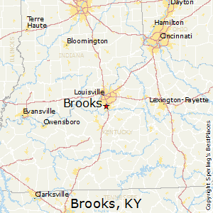 Brooks,Kentucky Map