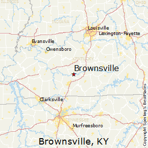 Brownsville,Kentucky Map