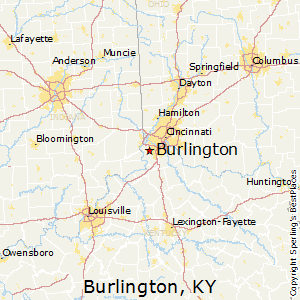 Burlington,Kentucky Map