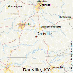 Danville,Kentucky Map