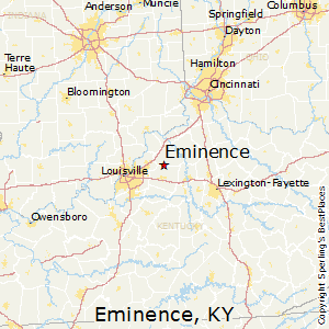 Eminence,Kentucky Map
