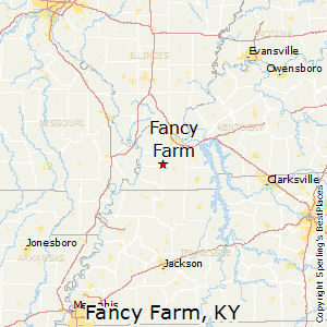 Fancy_Farm,Kentucky Map
