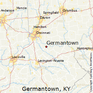 Germantown,Kentucky Map