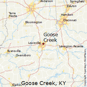 Goose_Creek,Kentucky Map